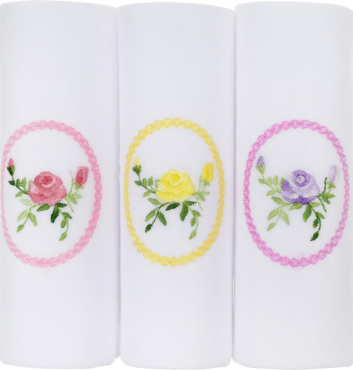 Платок носовой женский Zlata Korunka, цвет: белый, 3 шт. 06601-8. Размер 30 см х 30 смК 10_розовый, шампань, белыйНебольшой женский носовой платок Zlata Korunka изготовлен из высококачественного натурального хлопка, благодаря чему приятен в использовании, хорошо стирается, не садится и отлично впитывает влагу. Практичный и изящный носовой платок будет незаменим в повседневной жизни любого современного человека. Такой платок послужит стильным аксессуаром и подчеркнет ваше превосходное чувство вкуса.В комплекте 3 платка.