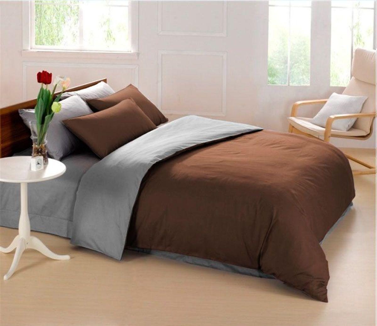 Комплект белья Sleep iX Perfection, семейный, наволочки 50х70, 70х70,цвет: темно-коричневый, серый83336Комплект постельного белья Sleep iX Perfection состоит из двух пододеяльников, простыни и четырех наволочек. Предметы комплекта выполнены из абсолютно гипоаллергенной микрофибры, неприхотливой в уходе.Благодаря такому комплекту постельного белья вы сможете создать атмосферу уюта и комфорта в вашей спальне.Известно, что цвет напрямую воздействует на психологическое и физическое состояние человека. Коричневый - спокойный и сдержанный цвет. Вызывает ощущение тепла, способствует созданию спокойного мягкого настроения. Это цвет надежности, прочности, здравого смысла.Серый – нейтральный цвет. Расслабляет, помогает успокоиться и способствует здоровому сну. Усиливает воздействие соседствующих цветов.