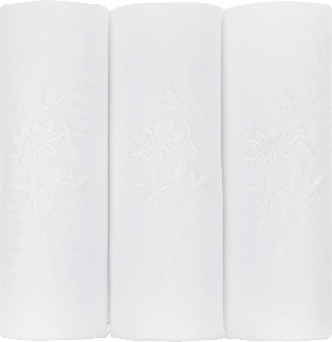 Платок носовой женский Zlata Korunka, цвет: белый, 3 шт. 06601-1. Размер 30 см х 30 см39864|Серьги с подвескамиНебольшой женский носовой платок Zlata Korunka изготовлен из высококачественного натурального хлопка, благодаря чему приятен в использовании, хорошо стирается, не садится и отлично впитывает влагу. Практичный и изящный носовой платок будет незаменим в повседневной жизни любого современного человека. Такой платок послужит стильным аксессуаром и подчеркнет ваше превосходное чувство вкуса.В комплекте 3 платка.