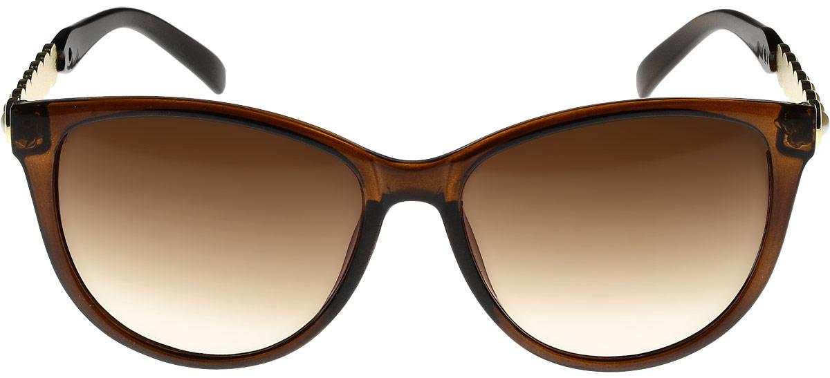 Очки солнцезащитные женские Vittorio Richi, цвет: коричневый. ОС1857с2/17fINT-06501Очки солнцезащитные Vittorio Richi это знаменитое итальянское качество и традиционно изысканный дизайн.