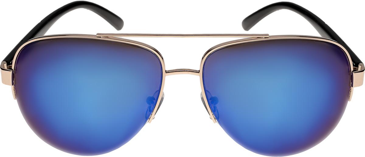 Очки солнцезащитные мужские Vittorio Richi, цвет: золотистый, синий. ОСA6/17fINT-06501Очки солнцезащитные Vittorio Richi это знаменитое итальянское качество и традиционно изысканный дизайн.