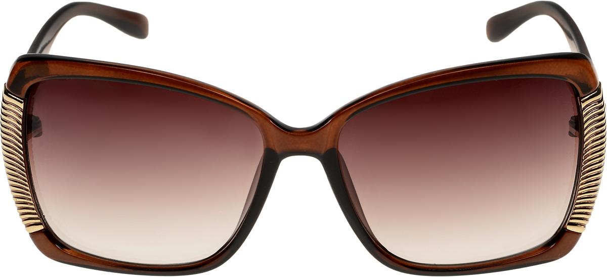 Очки солнцезащитные женские Vittorio Richi, цвет: коричневый. ОС51178320-477-12/17fBM8434-58AEОчки солнцезащитные Vittorio Richi это знаменитое итальянское качество и традиционно изысканный дизайн.