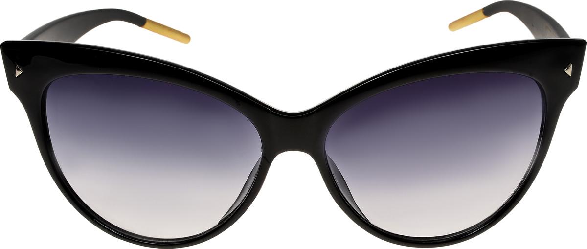 Очки солнцезащитные женские Vittorio Richi, цвет: черный. ОС1991c1/17fINT-06501Очки солнцезащитные Vittorio Richi это знаменитое итальянское качество и традиционно изысканный дизайн.