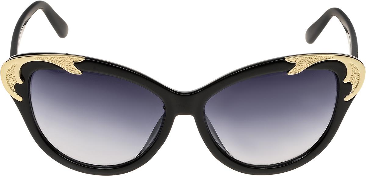 Очки солнцезащитные женские Vittorio Richi, цвет: черный. ОС1600с1/17fBM8434-58AEОчки солнцезащитные Vittorio Richi это знаменитое итальянское качество и традиционно изысканный дизайн.