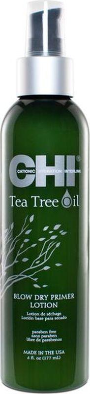 CHI Лосьон-праймер с маслом чайного дерева для кожи головы, 177млMP59.4DПодготавливает волосы и кожу головы для термической укладки с легким увлажняющим эффектом, который защищает от теплового повреждения и негативного воздействия окружающей среды.