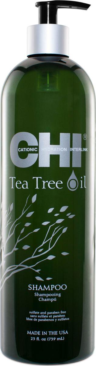 CHI Шампунь с маслом чайного дерева,355 млFS-00897Мягко очищает, избавляя волосы и кожу головы от загрязнений, контролируя выработку кожного сала, выравнивает кутикульный слой волос.
