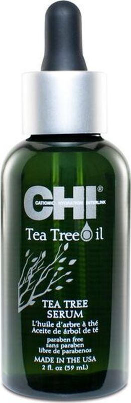 CHI Сыворотка для волос с маслом чайного дерева, 59 мл09000604Сыворотка для волос с маслом чайного дерева. Быстро впитывающаяся смесь чайного дерева и масло перечной мяты увлажняет, питает волосы и кожу головы, обеспечивает необходимыми питательными веществами, придавая волосам шелковистость и здоровый вид, а также обеспечивает природным УФ фильтром и термозащитой.