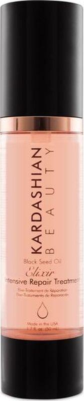 Kardashian Beauty Масло-эликсир для волос с экстрактом семян черного тмина/KB- Black Seed Oil Elixir- Intensive Repair Treatment, 1,7oz/50мл фл.09000601Масло черного тмина питает и насыщает волосы витаминами. Облегчает расчесывание и дарит блеск волосам.