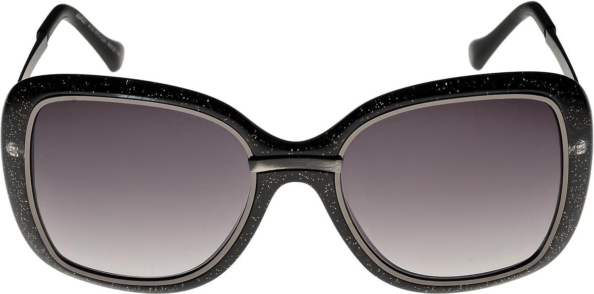 Очки солнцезащитные женские Vittorio Richi, цвет: черный. ОС4021c137-670-24/17fINT-06501Очки солнцезащитные Vittorio Richi это знаменитое итальянское качество и традиционно изысканный дизайн.