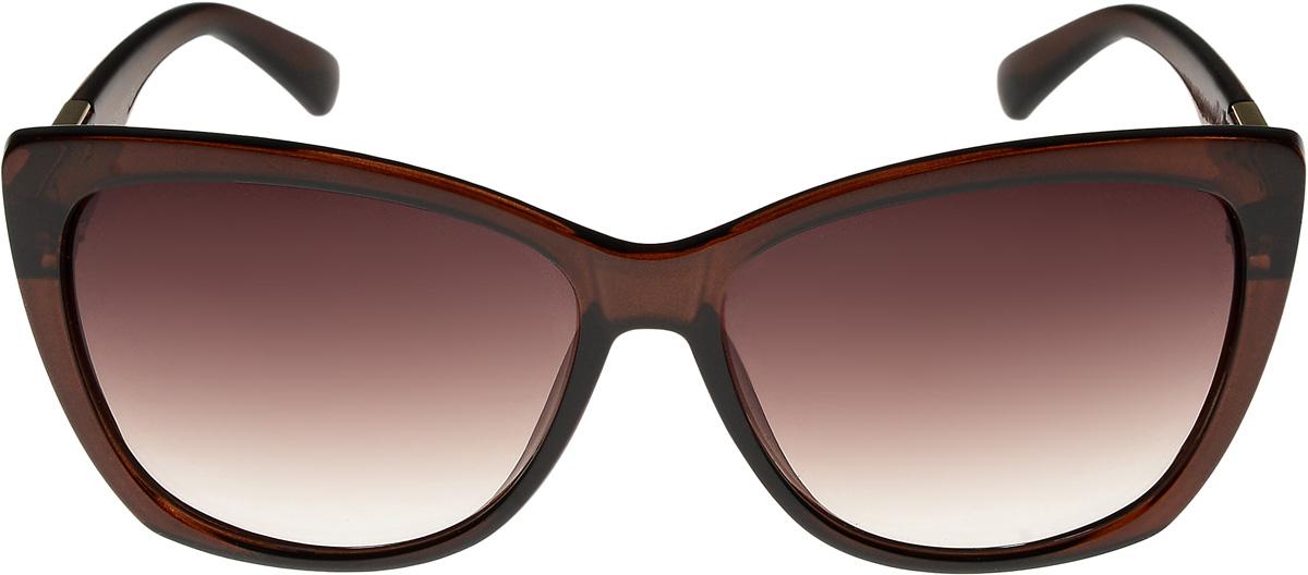 Очки солнцезащитные женские Vittorio Richi, цвет: коричневый. ОС4137c320-477-1/17fBM8434-58AEОчки солнцезащитные Vittorio Richi это знаменитое итальянское качество и традиционно изысканный дизайн.