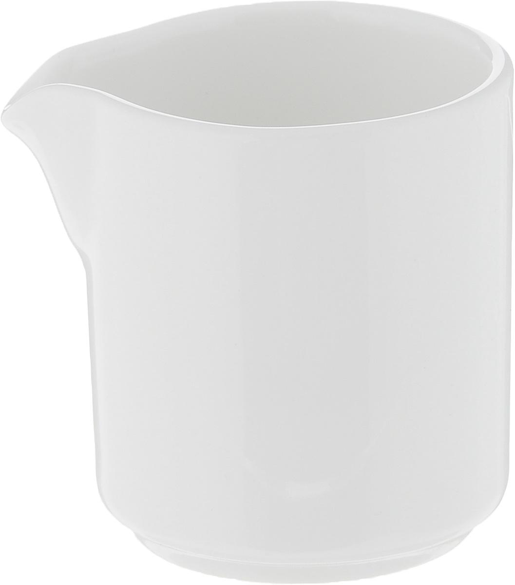 Молочник Ariane Прайм, 50 млWL-995004 / AМолочник Ariane Прайм изготовлен из высококачественного фарфора с глазурованным покрытием. Изделие предназначено для сервировки сливок или молока. Такой молочник отлично подойдет как для праздничного чаепития, так и для повседневного использования. Изделие функциональное, практичное и легкое в уходе. Можно мыть в посудомоечной машине и использовать в СВЧ.Диаметр (по верхнему краю): 4,5 см.Высота: 5,5 см.