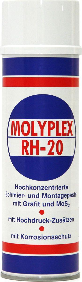 Смазка Finke Molyplex RH-20, 400 млSVC-300Смазка Finke Molyplex RH-20 с молибденом и графитом в баллончике - это высококонцентрированная смазочно-монтажная паста для экстремальных условий. Специальная смесь синтетического графита и дисульфида молибдена (MoS2), поверхностно-активных добавок и антикоррозионного средства. Применение: - для хорошо очищенных и обезжиренных поверхностей, - для направляющих скольжения, направляющих на машинах, петель, болтов, фитингов и зубчатых передач, - при высоких температурах в литейном производстве, вибрирующих и формовочных машин, очистных сооружений, цепей, печей для обжига керамики и фарфора. Важно: Перед применением поверхности должны быть тщательно очищены, чтобы обеспечить равномерное нанесение и образование тонкой однородной пленки из смазочного материала. При распылении баллон должен находиться в вертикальном положении, а распыление должно быть произведено тонко и равномерно с расстояния около 30 см. Не допускать нагрев баллончика свыше 50°С, защищать от прямого солнечного света. Не допускать распыление на открытый огонь или горящие объекты. Запрещается бросать пустой баллончик в огонь. Преимущества: - хорошая защита от коррозии,- хорошая стойкость к окислению,- хорошая адгезия,- водостойкость,- очень широкий диапазон рабочих температур.Диапазон рабочих температур: от -30°C до 650°C.