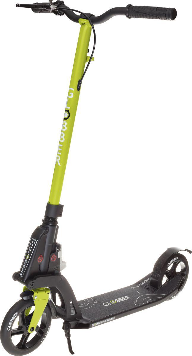Самокат Globber My Too One K180, с тормозом , цвет: зеленый. 499-1062243Самокат ONE K 180 оборудован фиксированным рулем и длинными ручками. Данная модель максимально комфортна для ежедневного использования. Доступны модификации самоката оборудованный ручным тормозом, а так же без него. Данная модель оснащена быстрой и простой в использовании системой складывания Kleefer, самокат можно собрать за одну секунду простым ударом по педали для того, чтобы беспрепятственно воспользоваться общественным транспортом.