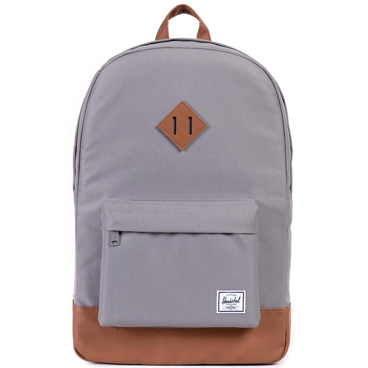 Рюкзак городской Herschel Heritage (A/S), цвет: серый, светло-коричневый. 828432010356ГризлиРюкзак Herschel Heritage ™ это функциональный классический дизайн с особым внимание к деталям.