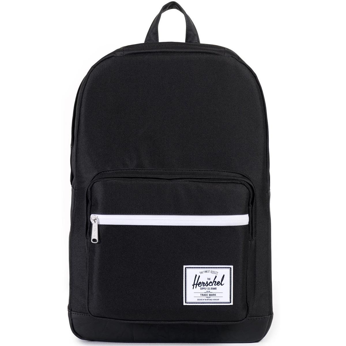 Рюкзак городской Herschel Pop Quiz (A/S), цвет: черный. 828432043330КомфортРюкзак Herschel Pop Quiz выполнен из высококачественного материала. Этот рюкзак создан для любых целей и поездок, отлично впишется в абсолютно любой стиль. Основное отделение закрывается на застежку-молнию. Внешняя сторона дополнена накладным карманом на застежке-молнии. Лямки регулируются, что позволяет менять положение рюкзака на спине.