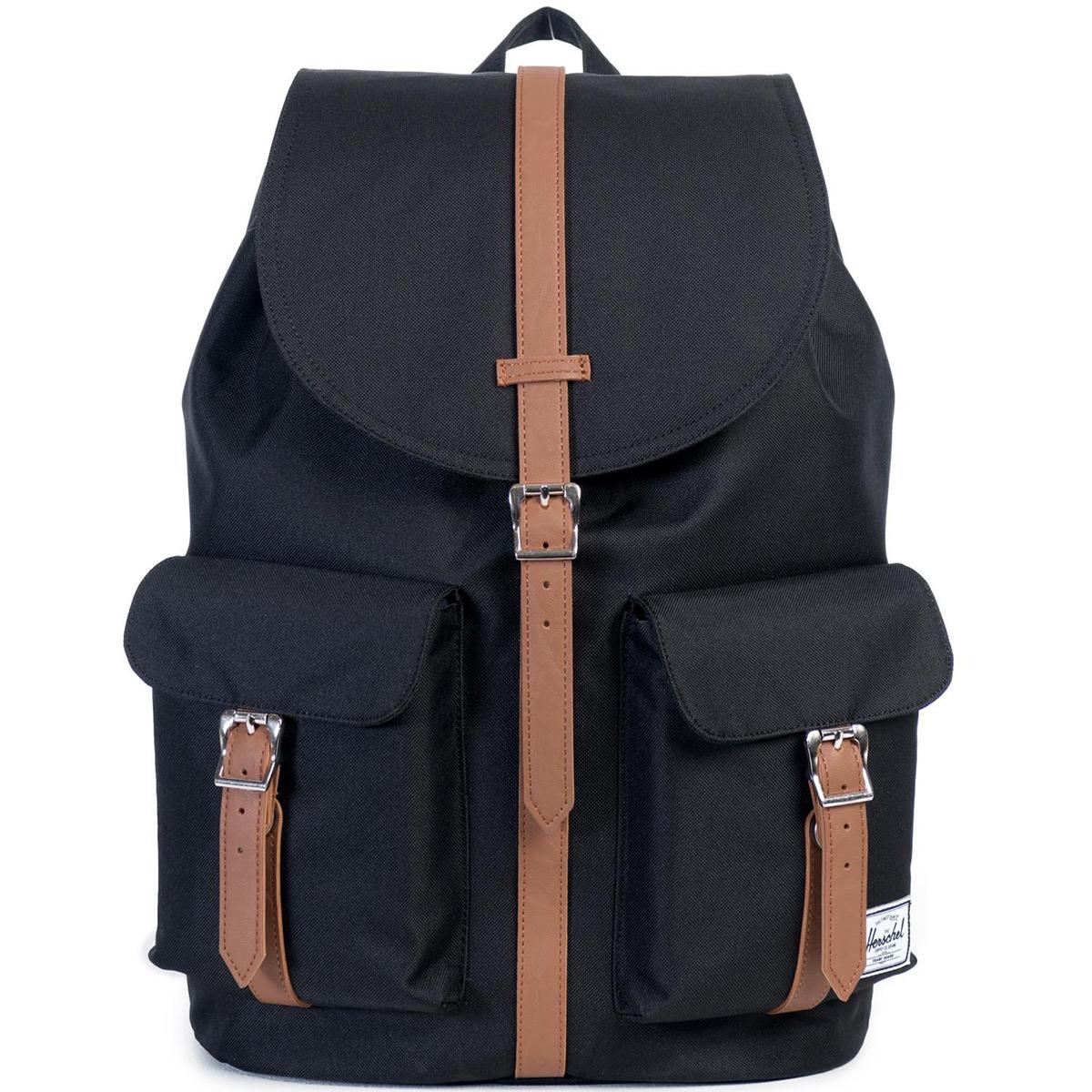 Рюкзак городской Herschel Dawson (A/S), цвет: черный, светло-коричневый. 82843208266795940-905Рюкзак Herschel Dawson ™ функциональный и вместительный, создан для разведки. Удобные внешние карманы.