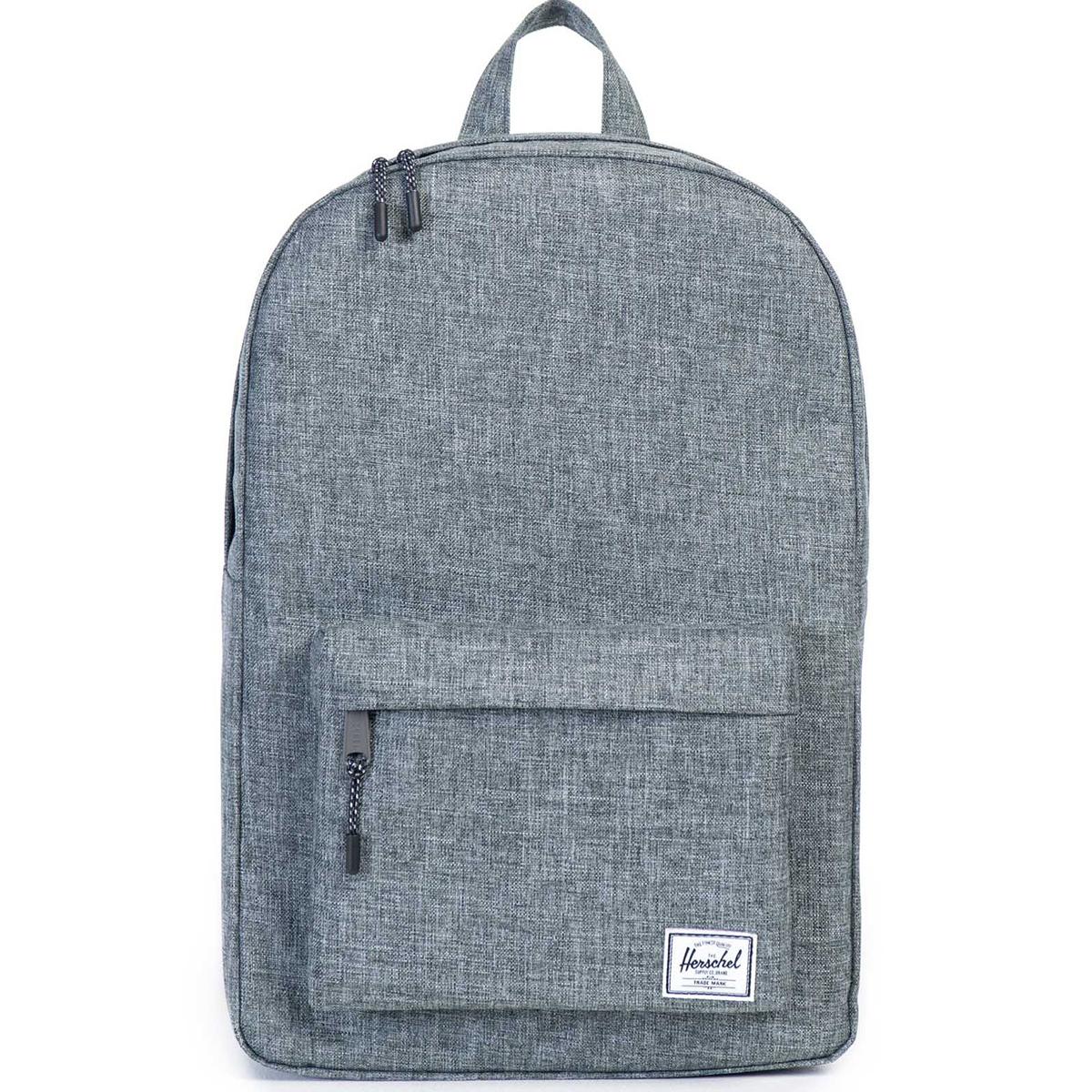 Рюкзак городской Herschel Classic (A/S), цвет: серый. 828432100385828432100385Рюкзак Herschel Classic целиком и полностью оправдывает свое название, выражая совершенство в лаконичных и идеальных линиях. Этот рюкзак создан для любых целей и поездок и отлично впишется в абсолютно любой стиль. Основное отделение закрывается на застежку-молнию. Внешняя сторона дополнена накладным карманом на застежке-молнии. Лямки регулируются, что позволяет менять положение рюкзака на спине.