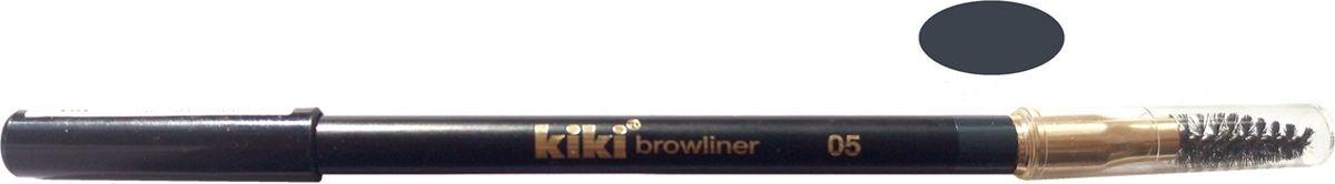 Kiki Карандаш для бровей с щеточкой 05, 1.3 гр11105005Мягкая текстура придает бровям форму, подчеркивает натуральный цвет. Удобная щеточка легко растушевывается и помогает уложить брови.