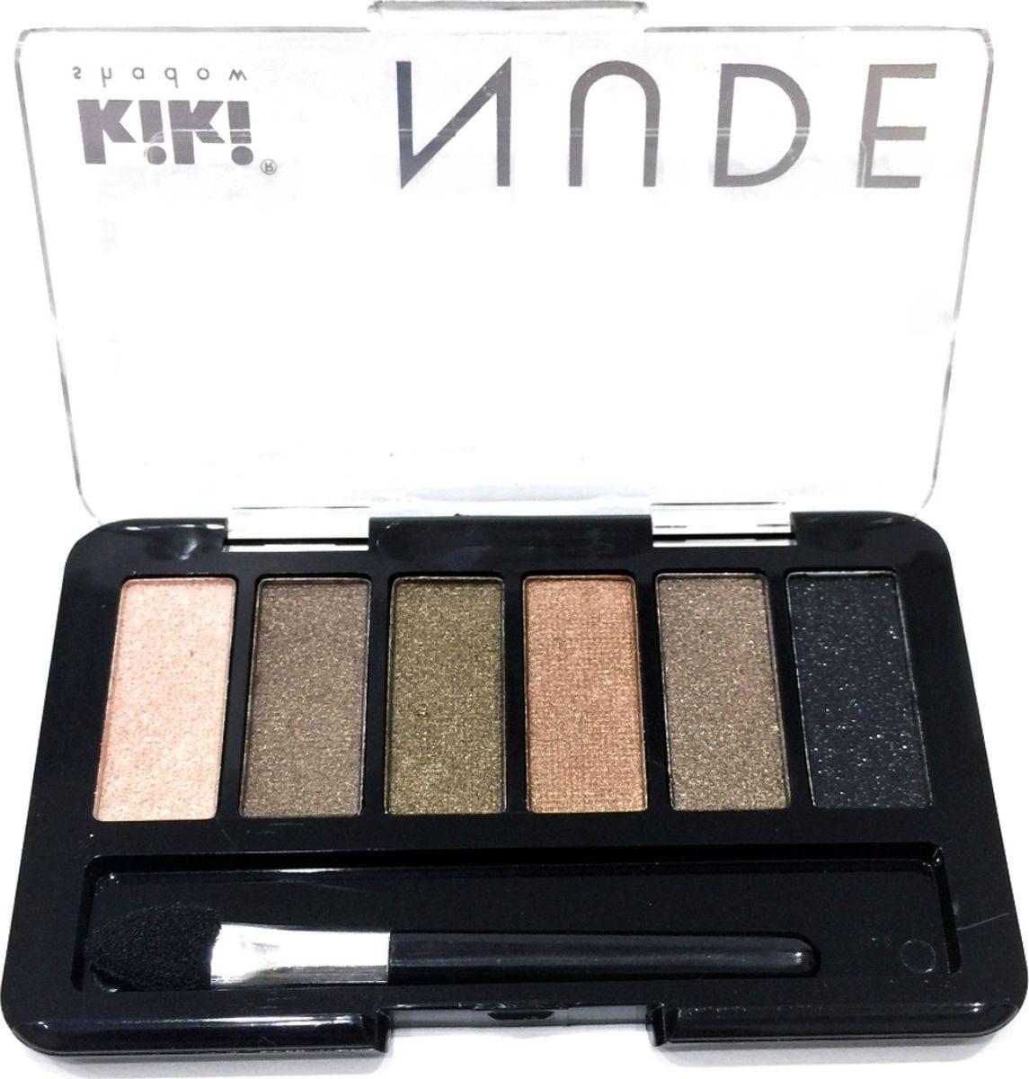 Kiki Тени для век shadow Nude 901, 2.76 гр101400228Шесть идеально подобранных оттенков в нюдовых тонах не оставят вас равнодушными. Тени обладают нежной, хорошо поддающейся растушевке текстурой. Благодаря удобному аппликатору макияж можно создавать буквально на ходу.