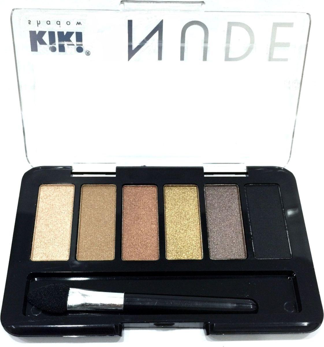 Kiki Тени для век shadow Nude 903, 2.76 грGESS-131Шесть идеально подобранных оттенков в нюдовых тонах не оставят вас равнодушными. Тени обладают нежной, хорошо поддающейся растушевке текстурой. Благодаря удобному аппликатору макияж можно создавать буквально на ходу.