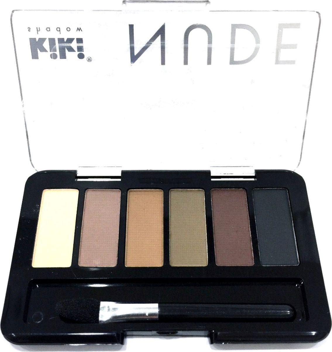 Kiki Тени для век shadow Nude 904, 2.76 гр10909904Шесть идеально подобранных оттенков в нюдовых тонах не оставят вас равнодушными. Тени обладают нежной, хорошо поддающейся растушевке текстурой. Благодаря удобному аппликатору макияж можно создавать буквально на ходу.