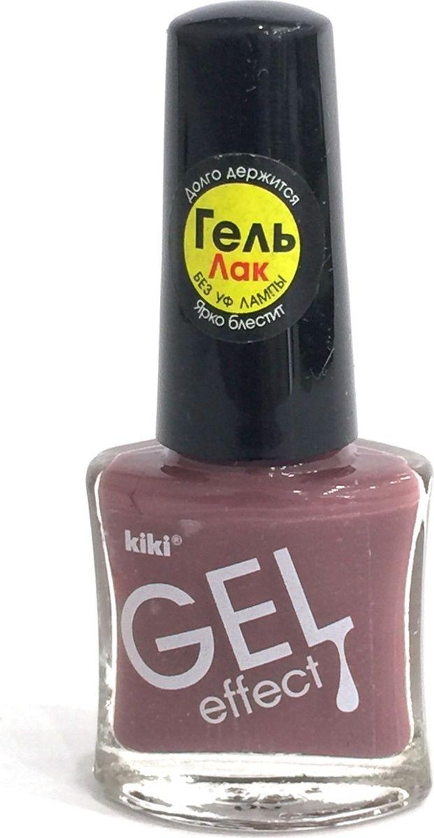 Kiki Лак для ногтей Gel Effect 022, 6 млУТ000000909KIKI GEL EFFECT - это лак с гелевым эффектом, его формула обладает главным преимуществом - она создает невероятный глянец на ногтях, образуя идеальное покрытие, не требующее сушки под УФ-лампой и специального средства для снятия. Удобная плоская кисточка позволяет нанести лак за одно-два движения.