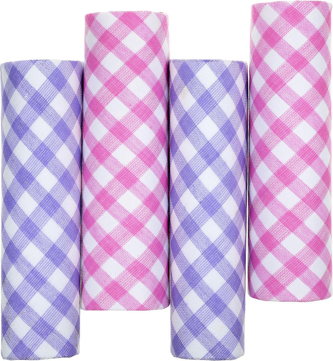 Платок носовой женский Zlata Korunka, цвет: белый, розовый, сиреневый. 71420-2. Размер 29 х 29 см, 4 шт39864|Серьги с подвескамиНосовой платок Zlata Korunka изготовлен из высококачественного натурального хлопка, благодаря чему приятен в использовании, хорошо стирается, не садится и отлично впитывает влагу. Практичный и изящный носовой платок будет незаменим в повседневной жизни любого современного человека. Такой платок послужит стильным аксессуаром и подчеркнет ваше превосходное чувство вкуса.В комплекте 4 платка.