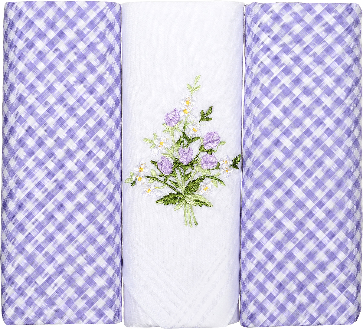 Платок носовой женский Zlata Korunka, цвет: белый, голубой, 3 шт. 90330-3. Размер 28 см х 28 смСерьги с подвескамиНебольшой женский носовой платок Zlata Korunka изготовлен из высококачественного натурального хлопка, благодаря чему приятен в использовании, хорошо стирается, не садится и отлично впитывает влагу. Практичный и изящный носовой платок будет незаменим в повседневной жизни любого современного человека. Такой платок послужит стильным аксессуаром и подчеркнет ваше превосходное чувство вкуса.В комплекте 3 платка.