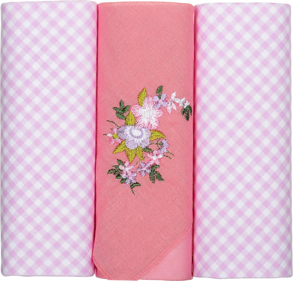 Платок носовой женский Zlata Korunka, цвет: розовый, 3 шт. 90330-2. Размер 28 см х 28 смАжурная брошьНебольшой женский носовой платок Zlata Korunka изготовлен из высококачественного натурального хлопка, благодаря чему приятен в использовании, хорошо стирается, не садится и отлично впитывает влагу. Практичный и изящный носовой платок будет незаменим в повседневной жизни любого современного человека. Такой платок послужит стильным аксессуаром и подчеркнет ваше превосходное чувство вкуса.В комплекте 3 платка.