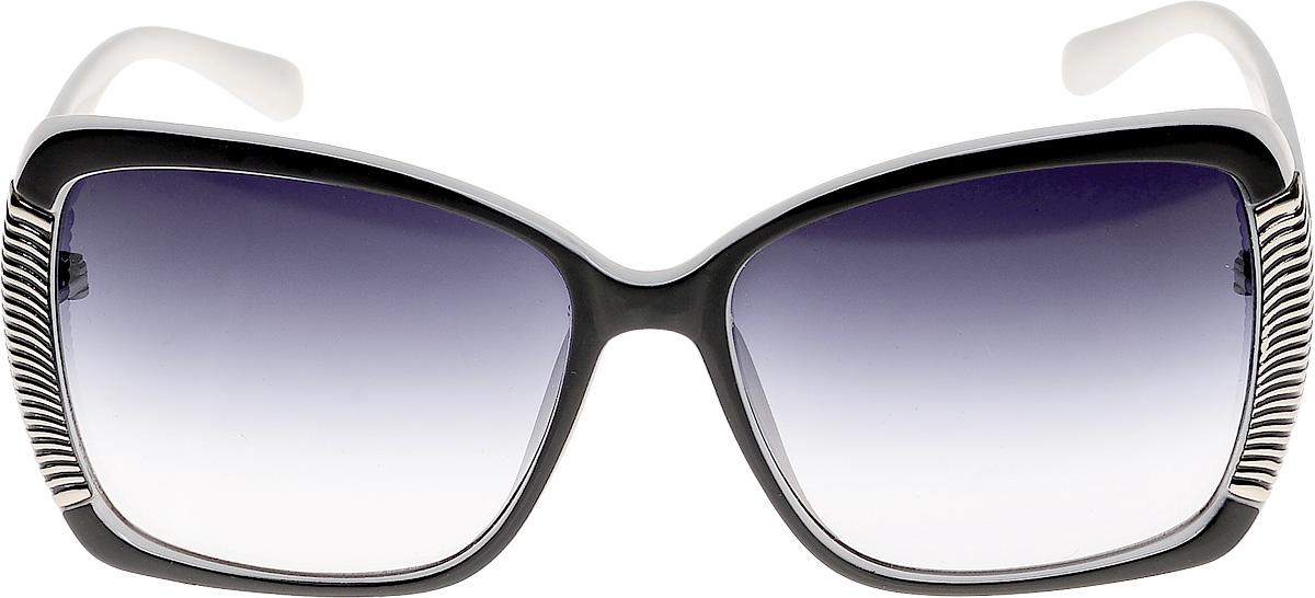 Очки солнцезащитные женские Vittorio Richi, цвет: черный, белый. ОС511781328-522-9/17fBM8434-58AEОчки солнцезащитные Vittorio Richi это знаменитое итальянское качество и традиционно изысканный дизайн.