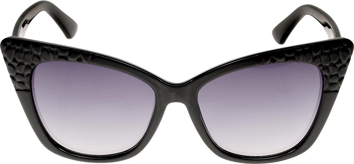 Очки солнцезащитные женские Vittorio Richi, цвет: черный. ОС4165c10-637-5/17fINT-06501Очки солнцезащитные Vittorio Richi это знаменитое итальянское качество и традиционно изысканный дизайн.