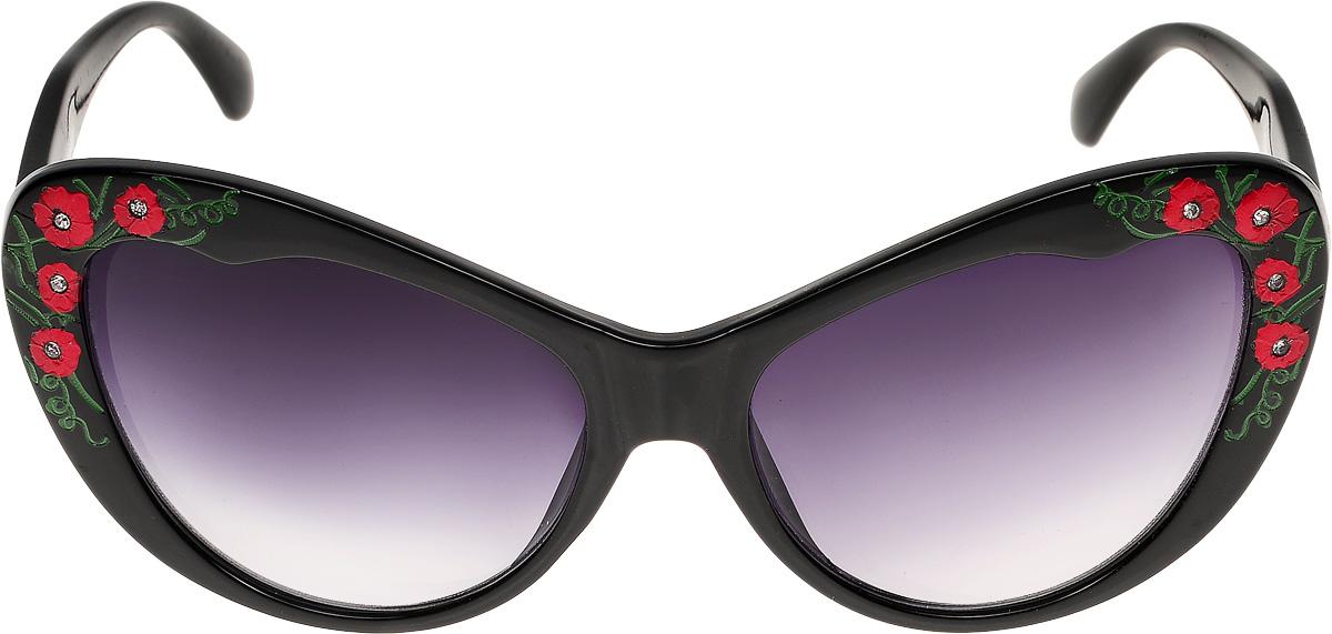 Очки солнцезащитные женские Vittorio Richi, цвет: черный. ОС1623с1/17fBM8434-58AEОчки солнцезащитные Vittorio Richi это знаменитое итальянское качество и традиционно изысканный дизайн.