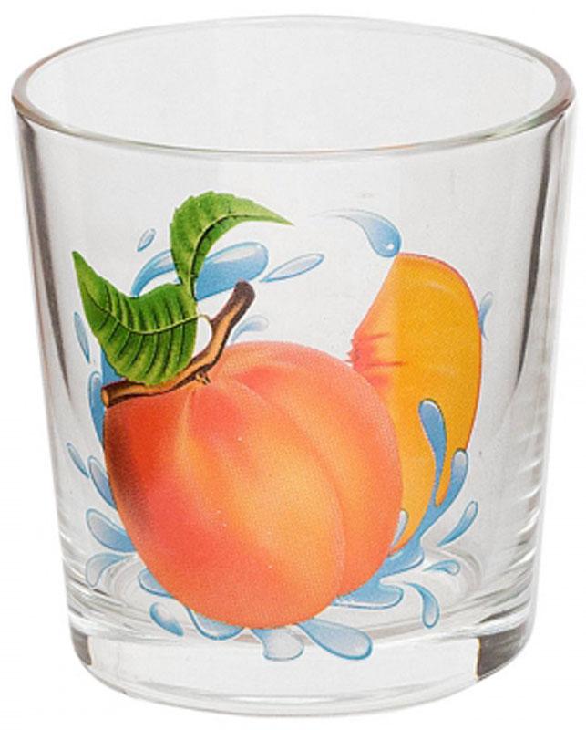 Стакан OSZ Ода. Персик, 250 млVT-1520(SR)Стакан OSZ Ода. Персик выполнен из высококачественного бесцветного стекла и украшен ярким рисунком. Идеально подходит для сервировки стола.Такой стакан не только украсит ваш кухонный стол, но и подчеркнет прекрасный вкус хозяйки.Диаметр стакана (по верхнему краю): 8 см. Диаметр основания: 6,5 см. Высота стакана: 8,5 см.