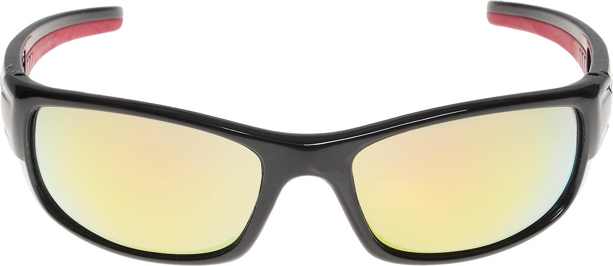 Очки солнцезащитные мужские Vita Pelle, цвет: черный, красный. ОС9009с3/17fBM8434-58AEОчки солнцезащитные Vita Pelle это знаменитое итальянское качество и традиционно изысканный дизайн.