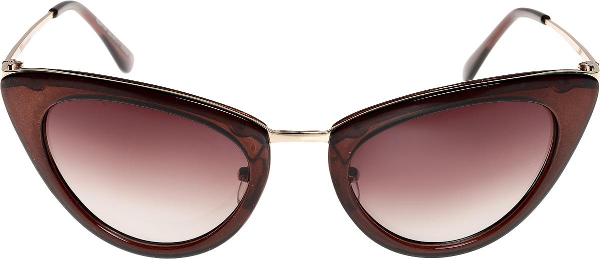 Очки солнцезащитные женские Vita Pelle, цвет: коричневый. ОС9114с320-477-1/17fBM8434-58AEОчки солнцезащитные Vita Pelle это знаменитое итальянское качество и традиционно изысканный дизайн.