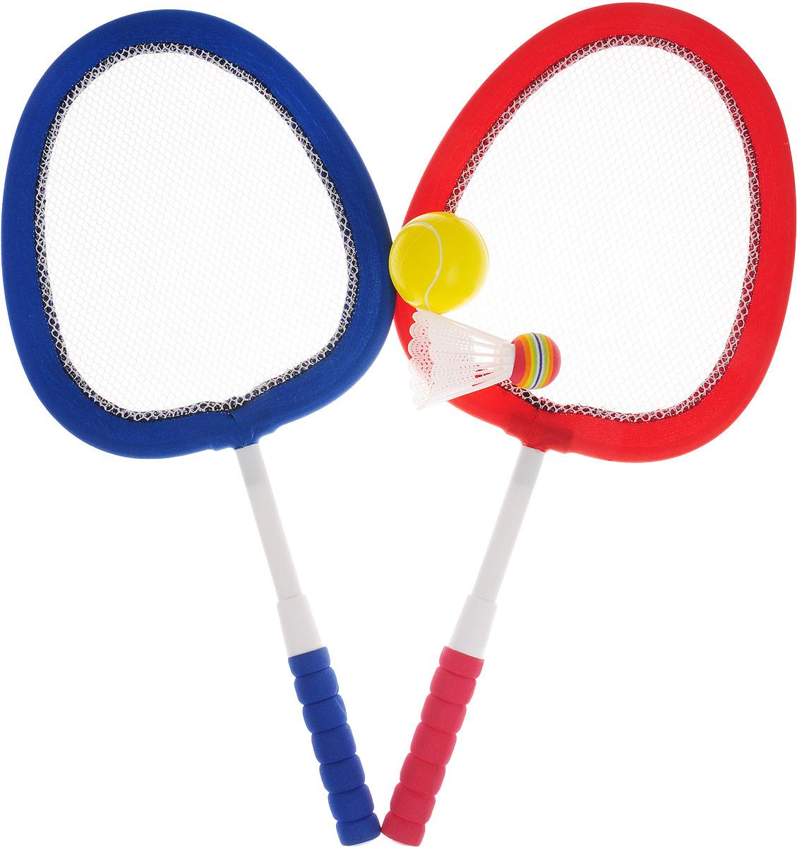 ABtoys Игровой набор Бадминтон и теннис цвет красный синий