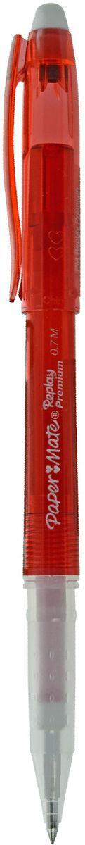 Paper Mate Ручка гелевая Replay Premium со стираемыми чернилами и ластиком цвет чернил красный0703415Ручка с гелевыми стираемыми чернилами Replay Premium.С ластиком, цвет чернил - красный.