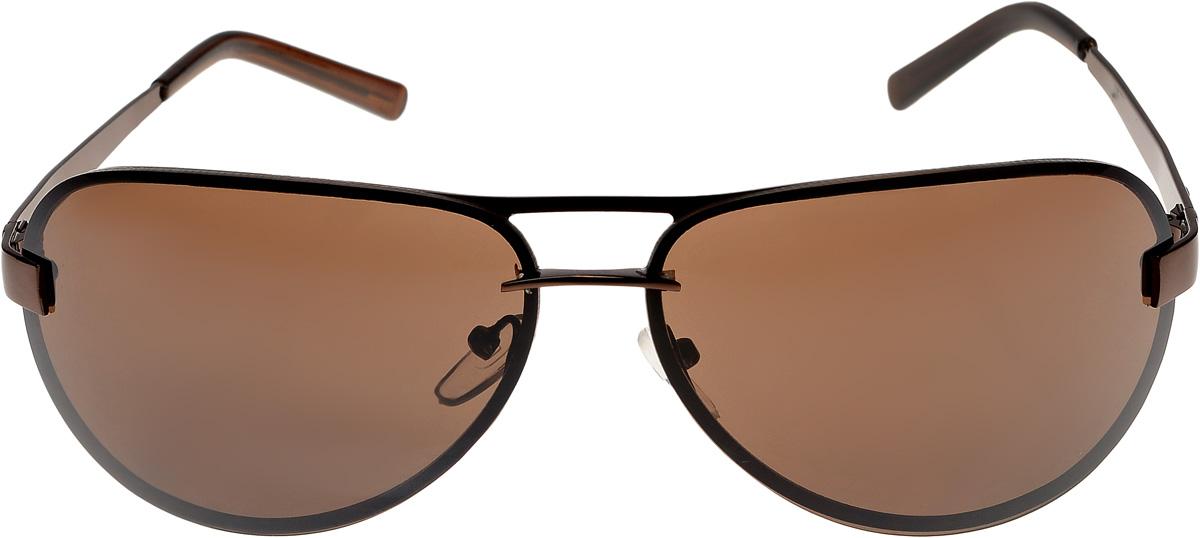 Очки солнцезащитные мужские Vittorio Richi, цвет: коричневый. ОС13005/17fINT-06501Очки солнцезащитные Vittorio Richi это знаменитое итальянское качество и традиционно изысканный дизайн.
