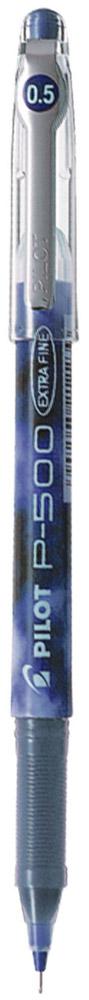 Pilot Ручка гелевая P-500 цвет чернил синий72523WDОдноразовая гелевая ручка с игольчатым пишущим узлом. Увеличенный резервуар для чернил делает срок службы ручки Pilot P-500 намного дольше, чем у аналогов со сменным типом стержней, а равномерная подача чернил обеспечивает легкое и плавное письмо. Яркие и контрастные чернила быстро высыхают и не размазываются.Захват ручки имеет рифленую зону для удобного сцепления с пальцами руки. Для большей надежности клипса на колпачке выполнена из металла. Цвет корпуса соответствует цвету чернил.