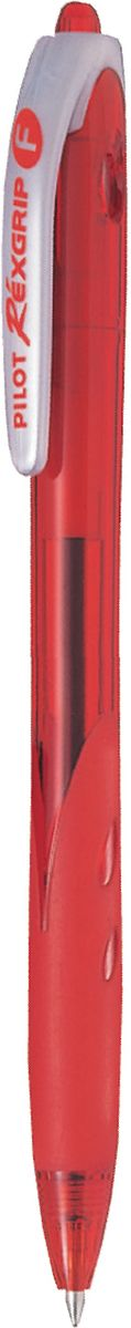 Pilot Ручка шариковая Rexgrip цвет чернил красный 0,7 мм2010440Автоматическая шариковая ручка с интегрированным в корпус прорезиненным захватом для пальцев. Чернила на масляной основе для мягкого и легкого письма. Наконечник стержня изготовлен из нержавеющей стали, а шарик - из карбида вольфрама. Пластиковый корпус тонирован в цвет чернил ручки.