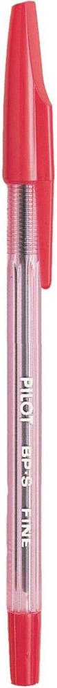 Pilot Ручка шариковая BP-S цвет чернил красный92941Шариковая ручка со сменным стержнем, выполненная в классическом дизайне. Чернила на масляной основе. Корпус ручки тонирован в цвет чернил.Ручка гарантирует надежное и легкое письмо.