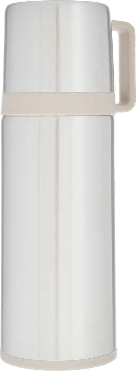 Термос Tescoma Constant, с крышкой-кружкой, цвет: серебристый, бежевый, 300 мл318570Термос Tescoma Constant предназначен для хранения теплых и холодных напитков на длительное время. Изделие изготовлено из пластика и высококачественной нержавеющей стали с двойной колбой. Пробка плотно закручивается, а благодаря вакуумной кнопке внутри создается абсолютная герметичность, что предотвращает проливание напитков. Термос оснащен завинчивающейся крышкой, которая может выполнять функцию кружки с ручкой. Нельзя мыть в посудомоечной машине.Диаметр горлышка по верхнему краю: 4,5 см. Диаметр основания: 7 см. Высота термоса: 21 см. Диаметр чашки по верхнему краю: 5,5 см. Высота стенки чашки: 6,5 см. Объем крышки-кружки: 150 мл.