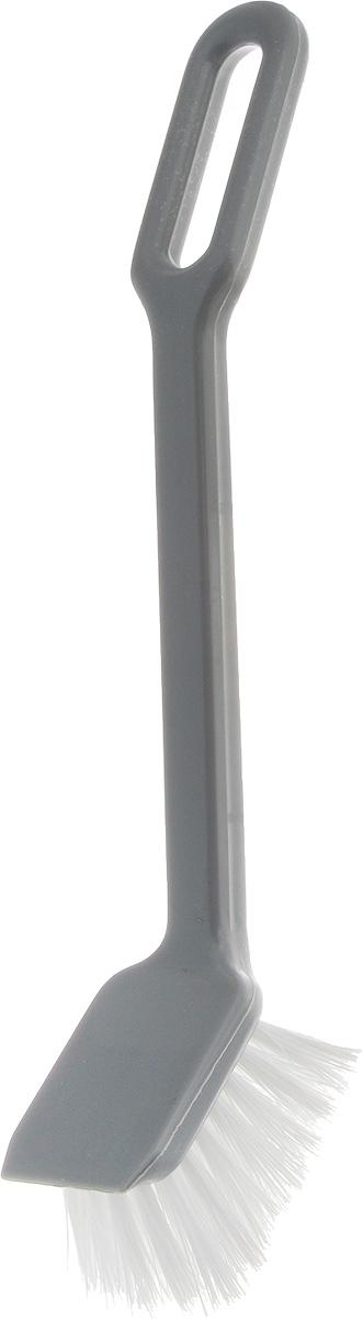 Щетка для посуды Svip Мила, цвет: серебряный, белый, длина 23 см787502Щетка Svip Мила изготовлена из высококачественного полипропилена и предназначена для мытьяпосуды. Щетка оснащена эргономичной ручкой с отверстием для подвеса. Ворс выполнен изполимерных материалов. Ворс щетки прочный и не деформируется при высоких температурах воды. На головке щетки расположен удобный скребок для снятия особо стойкого загрязнения.Такая щетка позволит качественно и быстро помыть посуду.Длина щетки: 23 см,Длина ворса: 2,5 см.