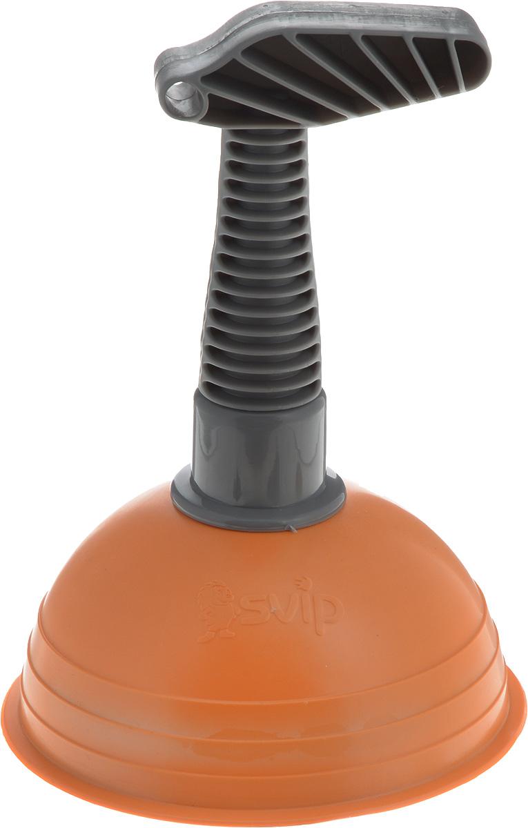 Вантуз Svip, цвет: оранжевый, серый, высота 18,5 см787502Вантуз Svip выполнен из пластика и прочного ПВХ. Изделие является инструментомдля прочистки ванн, раковин, сливов, унитазов. Ручка вантуза имеет удобную форму. На ручке имеется отверстие, за которое можно подвесить в любое удобное для вас место. Вантуз прост в использовании, справиться с ним может любая домохозяйка, которой надоели проблемы с канализацией.Высота вантуза: 18,5 см.Диаметр присоски: 13 см.
