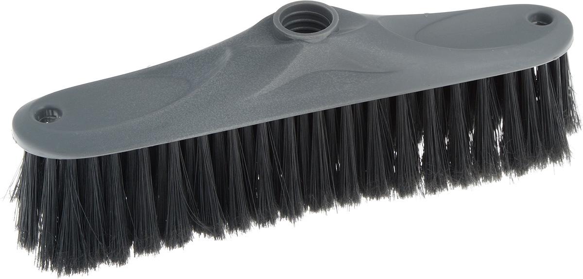 Щетка для пола Svip Аделия, цвет: серебряный, черный, без ручки, 24 х 4,5 х 8,5 см18101Щетка для пола Svip Аделия изготовлена из пластика. Распушенная щетина более эффективно притягивает пыль и мусор, не оставляет царапин на поверхностях. Может использоваться как в домашних, так и промышленных целях. Щетка долговечна и устойчива к погодному воздействию. Универсальная резьба подходит ко всем видам ручек. Щетка станет незаменимым помощником по хозяйству. Размер щетки: 24 х 4,5 см.Длина ворса: 5,5 см.Диаметр резьбы: 2 см.