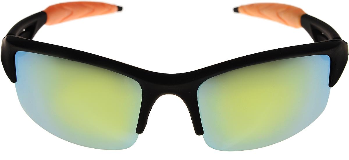 Очки солнцезащитные мужские Vittorio Richi, цвет: черный, желтый. ОС80047-5/17fBM8434-58AEОчки солнцезащитные Vittorio Richi это знаменитое итальянское качество и традиционно изысканный дизайн.