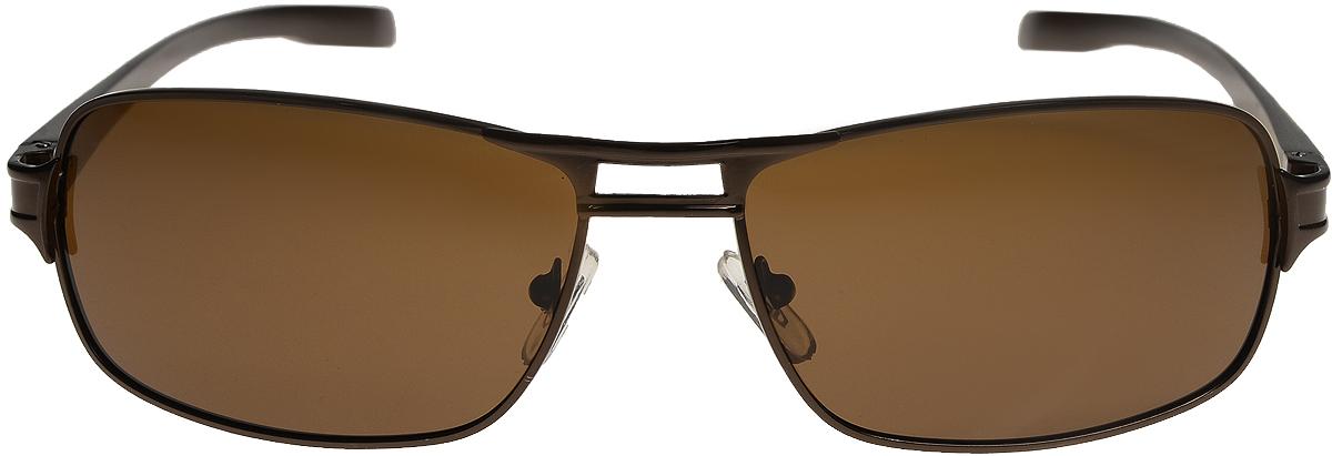 Очки солнцезащитные мужские Vittorio Richi, цвет: коричневый. ОС80052-6/17fBM8434-58AEОчки солнцезащитные Vittorio Richi это знаменитое итальянское качество и традиционно изысканный дизайн.