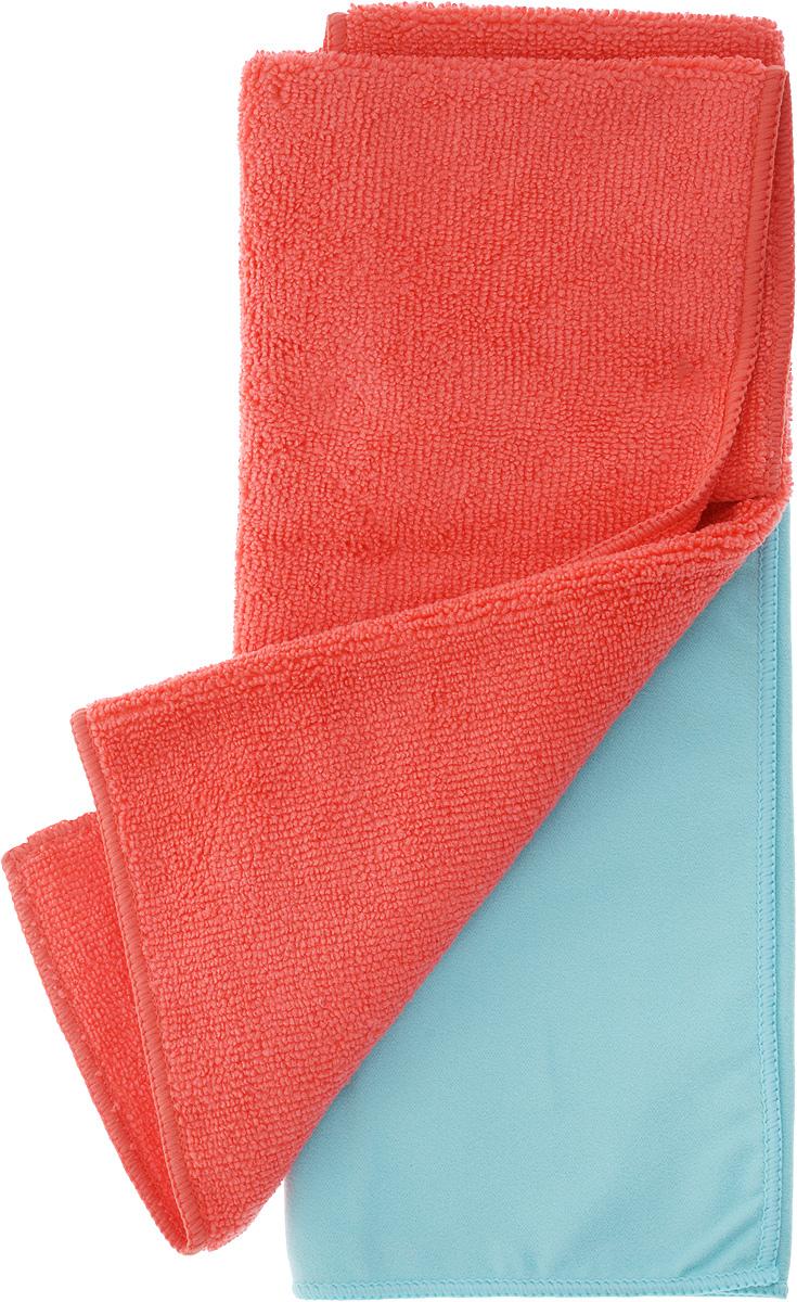 Салфетка чистящая Sapfire Cleaning Сloth & Suede, цвет: коралловый, голубой, 35 х 40 см, 2 штAB-V-02Благодаря своей уникальной ворсовой структуре, салфетки Sapfire Cleaning Сloth прекрасно подходят для мытья и полировки автомобиля.Материал салфеток: микрофибра (85% полиэстер и 15% полиамид), обладает уникальной способностью быстро впитывать большой объем жидкости. Клиновидные микроскопические волокна захватывают и легко удерживают частички пыли, жировой и никотиновый налет, микроорганизмы, в том числе болезнетворные и вызывающие аллергию. Протертая поверхность становится идеально чистой, сухой, блестящей, без разводов и ворсинок. Допускается машинная и ручная стирка слабым моющим раствором в теплой воде.Отбеливание и глажка запрещены.Размер салфеток: 35 х 40 см.