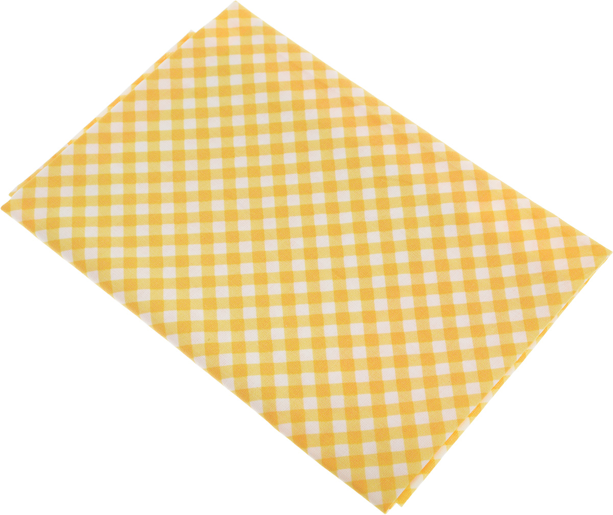 Ткань Артмикс Клетка №38, цвет: белый, желтый, 48 х 50 см. AM605038C0038550Артмикс Клетка №38 - это высококачественная ткань, изготовленная из 100% хлопка, которая отлично подходит для пошива покрывал, сумок, панно, одежды, кукол. Также подходит для рукоделия в стиле скрапбукинг и пэчворк.Плотность ткани:120 г/м2. Размер: 48 х 50 см.