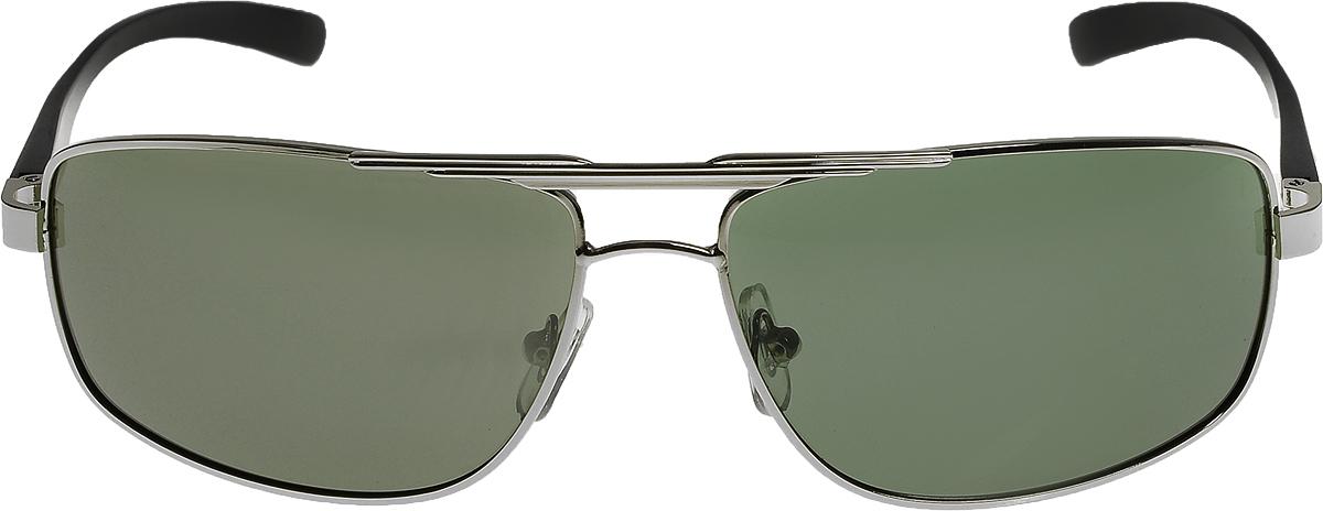Очки солнцезащитные мужские Vittorio Richi, цвет: зеленый, серебристый. ОС80053-1/17fKL163col.15Очки солнцезащитные Vittorio Richi это знаменитое итальянское качество и традиционно изысканный дизайн.